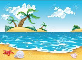 5450531-cartoon-seascape-stock-vector-cartoon-beach-sea