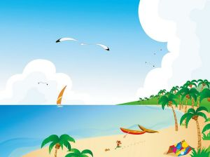 cartoon-beach
