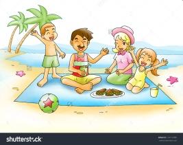 stock-photo-cartoon-illustration-of-a-family-having-a-picnic-at-the-beach-114112789