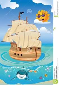 wooden-ship-sea-cartoon-old-sailing-tropical-41763627